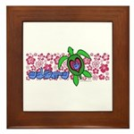 ILY Aloha Hawaii Turtle Framed Tile