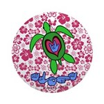 ILY Aloha Hawaii Turtle Ornament (Round)