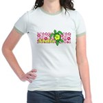 Aloha Hawaii Turtle Jr. Ringer T-Shirt
