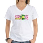 Aloha Hawaii Turtle Women's V-Neck T-Shirt