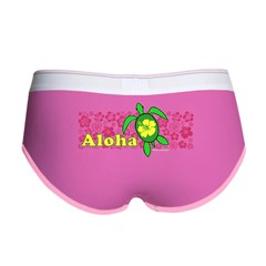 Aloha Hawaii Turtle Women's Boy Brief