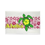 Aloha Hawaii Turtle Rectangle Magnet (10 pack)