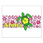Aloha Hawaii Turtle Small Poster