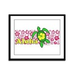 Aloha Hawaii Turtle Framed Panel Print