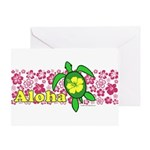 Aloha Hawaii Turtle Greeting Card