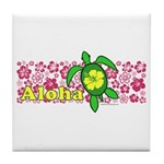Aloha Hawaii Turtle Tile Coaster