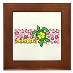 Aloha Hawaii Turtle Framed Tile