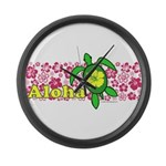 Aloha Hawaii Turtle Large Wall Clock