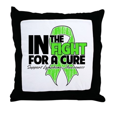 FightForaCureLymphoma Throw Pillow