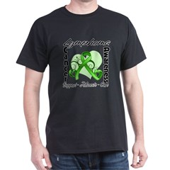 Ribbon Lymphoma Awareness Dark T-Shirt