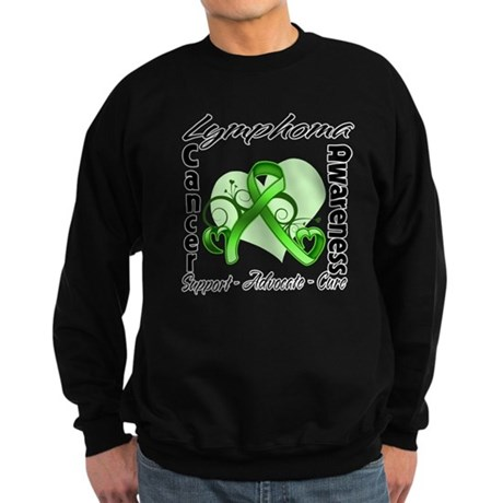 Ribbon Lymphoma Awareness Sweatshirt (dark)