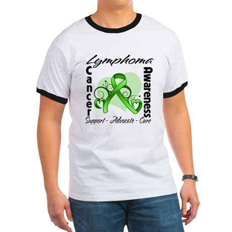 Ribbon Lymphoma Awareness Ringer T