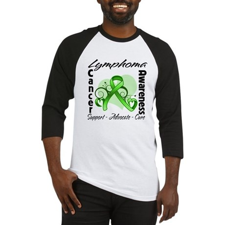 Ribbon Lymphoma Awareness Baseball Jersey