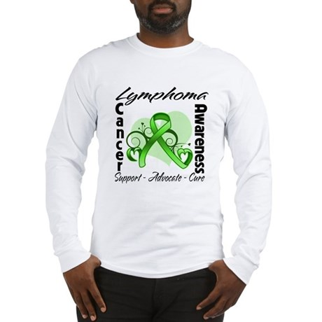 Ribbon Lymphoma Awareness Long Sleeve T-Shirt