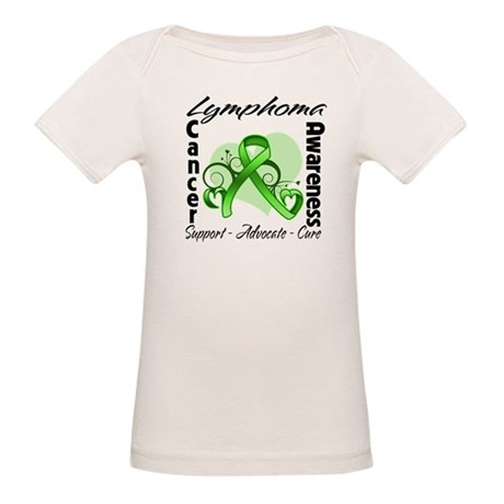 Ribbon Lymphoma Awareness Organic Baby T-Shirt