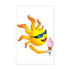 Sun 'n' Ice Cream Mini Poster Print