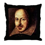 Shakespeare Portrait Throw Pillow