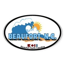 Beaufort NC - Waves Design Decal