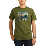 St Francis (W) - 2 Shelties (D&L) T-Shirt