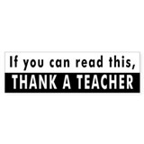 Thank A Teacher Bumper Car Sticker