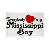 Everybody Hearts a MS Boy Rectangle Magnet