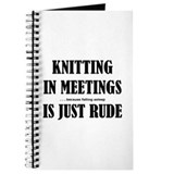 Knitting in Meetings Journal