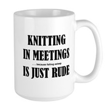 Knitting in Meetings Mug