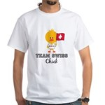 Team Swiss Chick White T-Shirt