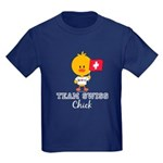 Team Swiss Chick Kids Dark T-Shirt