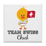 Team Swiss Chick Tile Coaster
