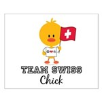 Team Swiss Chick Small Poster