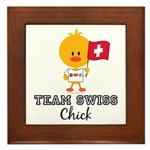 Team Swiss Chick Framed Tile