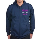 Run like a girl 26.2 Zip Hoody