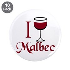 "I Drink Malbec Wine 3.5"" Button (10 pack)"