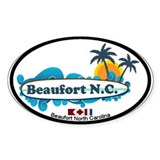 Beaufort NC - Surf Design Decal