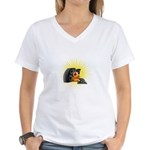 DJ Women's V-Neck T-Shirt
