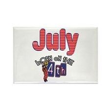 July 4th Birthday Rectangle Magnet
