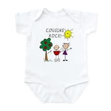 Cousins Rock Four Infant Bodysuit