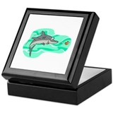 Cute Great white shark Keepsake Box