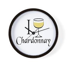 I Drink Chardonnay Wall Clock