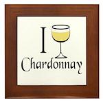 I Drink Chardonnay Framed Tile