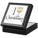 I Drink Chardonnay Keepsake Box