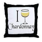 I Drink Chardonnay Throw Pillow