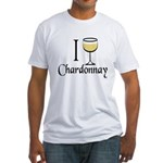 I Drink Chardonnay Fitted T-Shirt