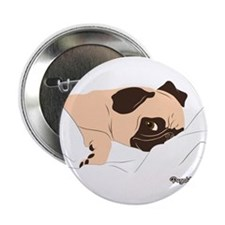 "Lazy Pug 2.25"" Button"