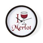 Merlot Drinker Wall Clock
