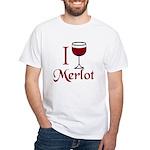 Merlot Drinker White T-Shirt