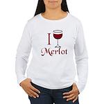Merlot Drinker Women's Long Sleeve T-Shirt
