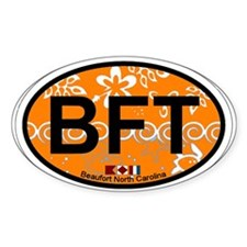 Beaufort NC - Oval Design Decal