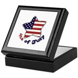 Cute Army star Keepsake Box